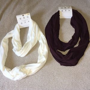 Selling two infinity scarves